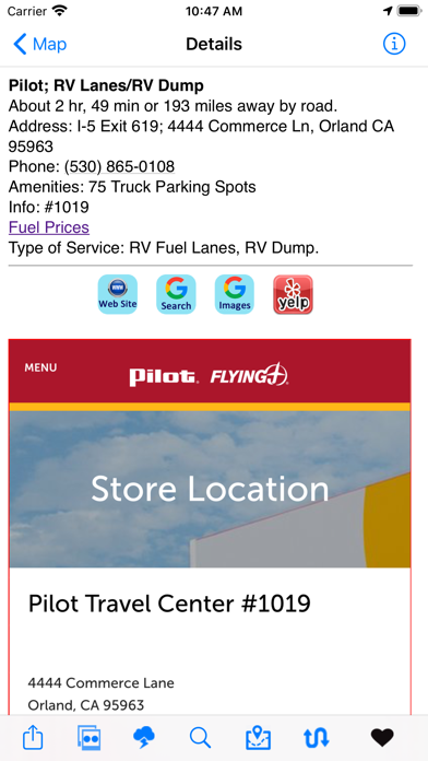 Screenshot #2 pour Truck & RV Fuel Stations