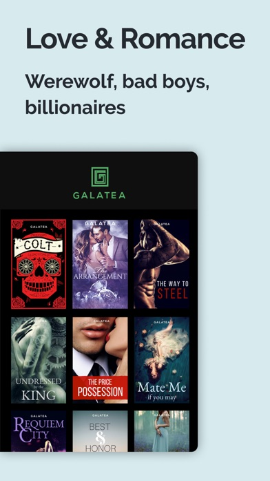 Screenshot for GALATEA - Addictive Stories in United States App Store