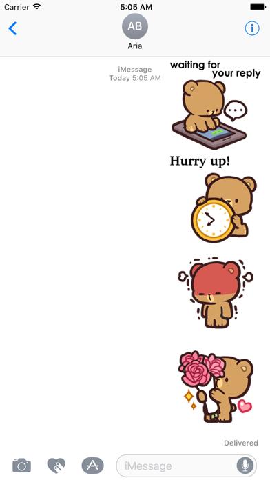 Cool Bear Mocha Daily Emoji screenshot 1