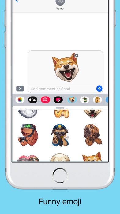 Funny dogs - emoji stickers screenshot 3