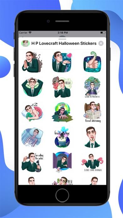 HP Lovecraft Halloween Sticker screenshot 1