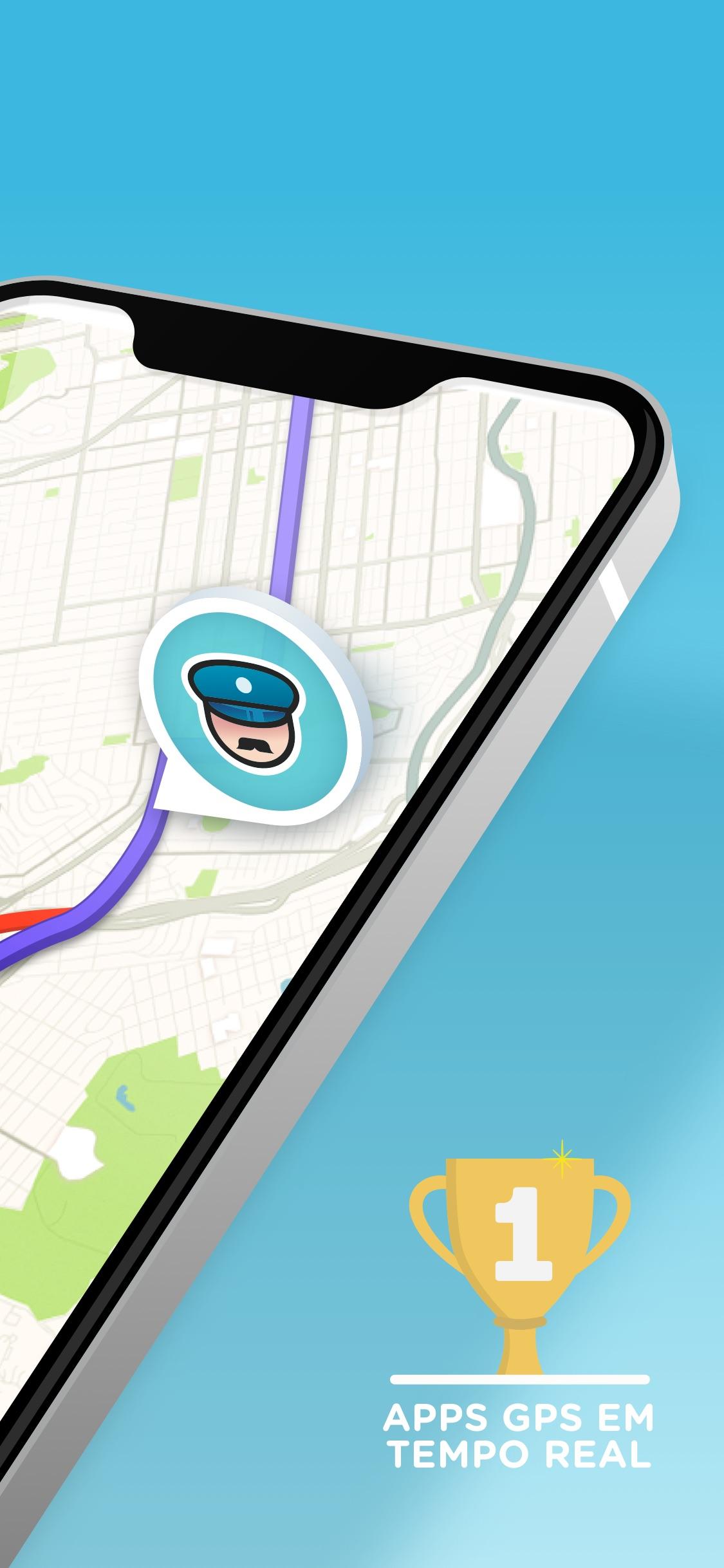 Screenshot do app Waze – GPS e Trânsito ao vivo