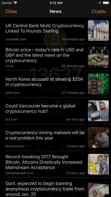 BitcoinTick Pro Bitcoin Ticker screenshot-3