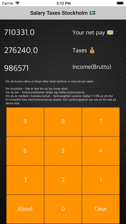 Net & Tax Calculator