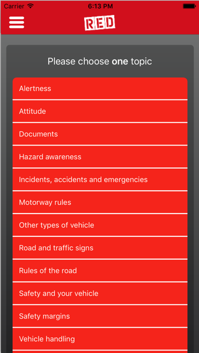 RED Theory Test screenshot three