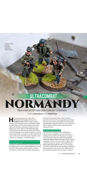 Miniature Wargames Magazine on the App Store