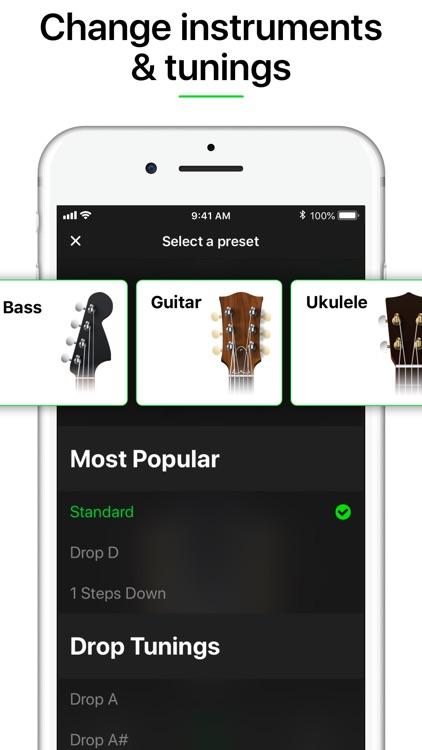 Guitar Tuner Pro, Bass,Ukulele screenshot-3