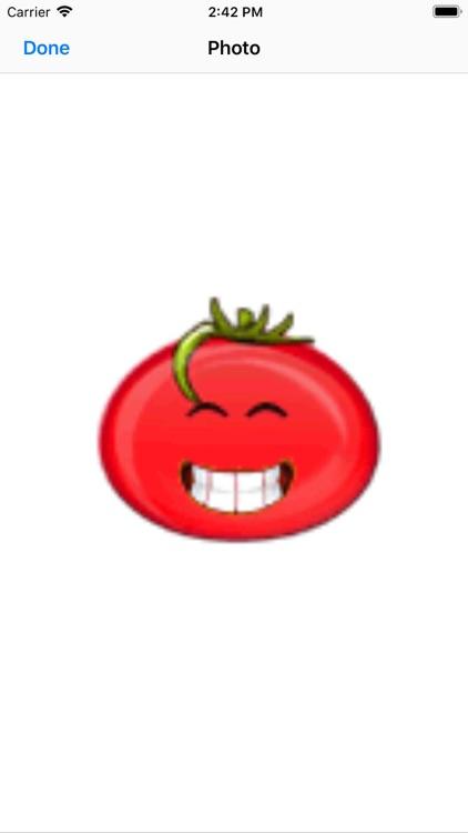 Big red tomato sticker-YiYuan screenshot-5