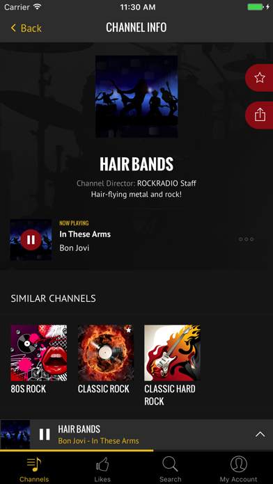 Rock Radio - Curated Music iPhone