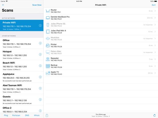 Network Radar Screenshots