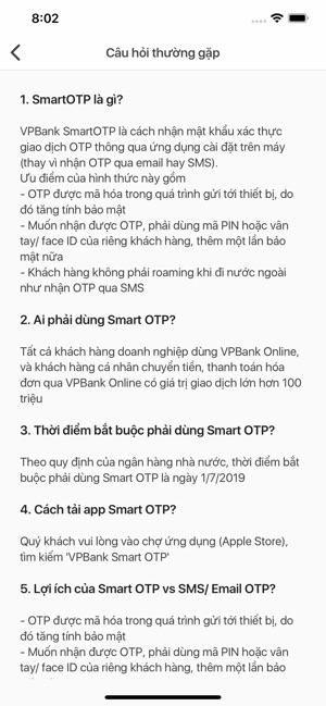 VPBank Smart OTP