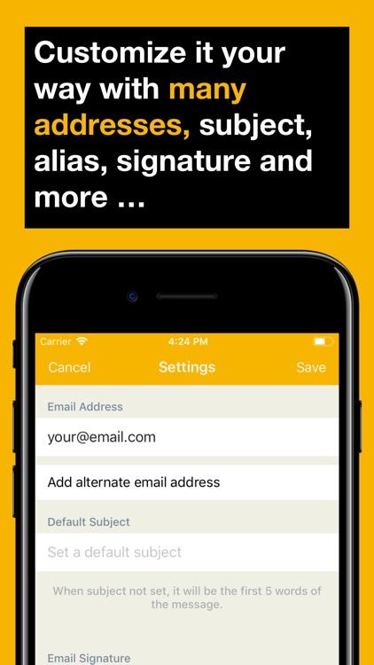 Email Me - Send Notes & Memos screenshot-5