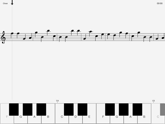 Music Note Sight Reading Trainer - Piano screenshot