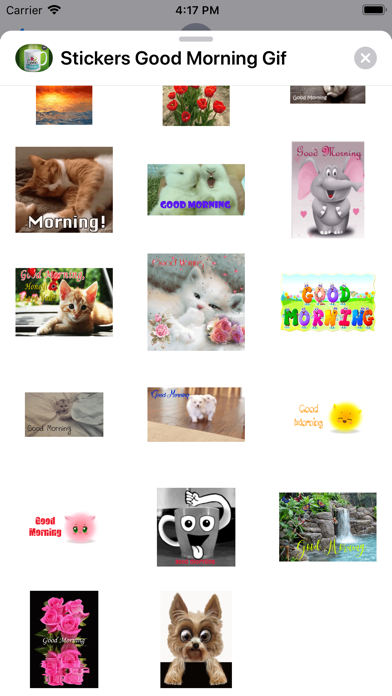 Good Morning Stickers GIF Screenshot