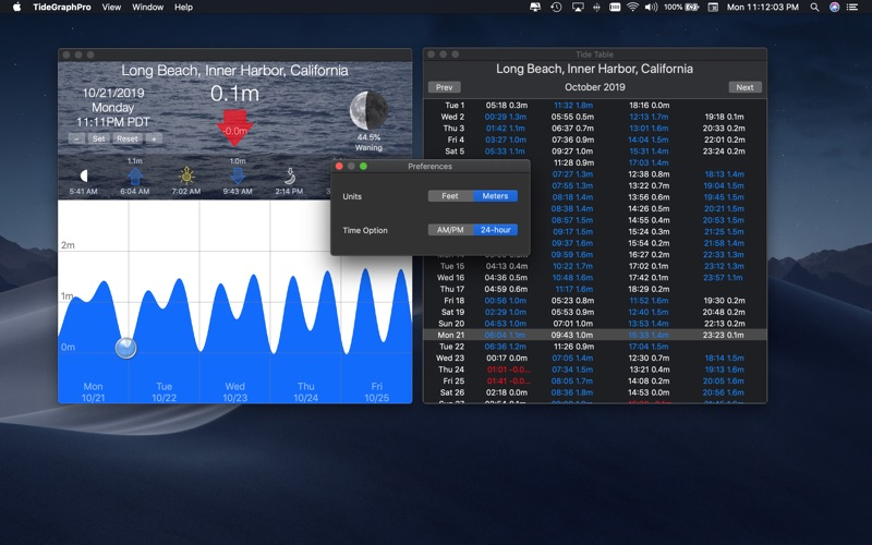 Tide Graph Pro for Mac