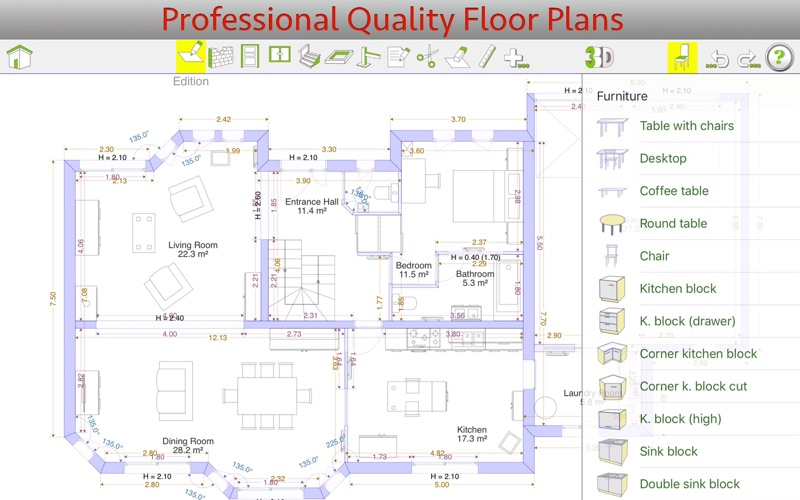 QuickPlan 3D - Floor plans for Mac