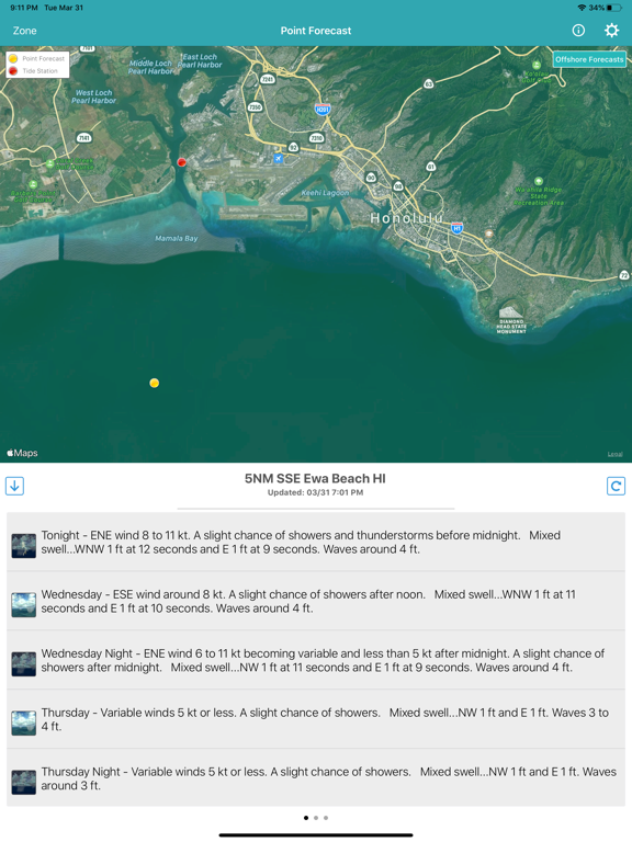 NOAA Marine Forecast & Weather Screenshots