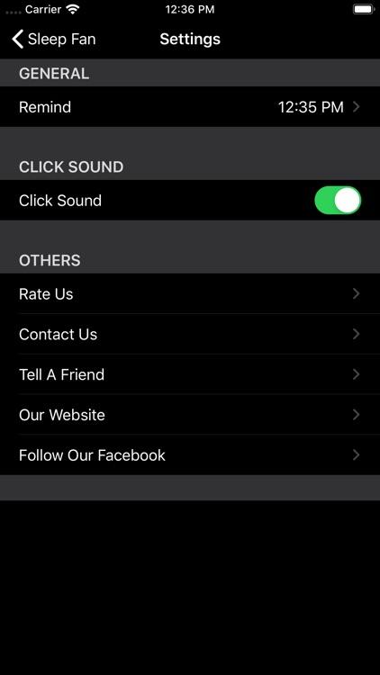 BedTime Sleep Fan Sounds screenshot-6