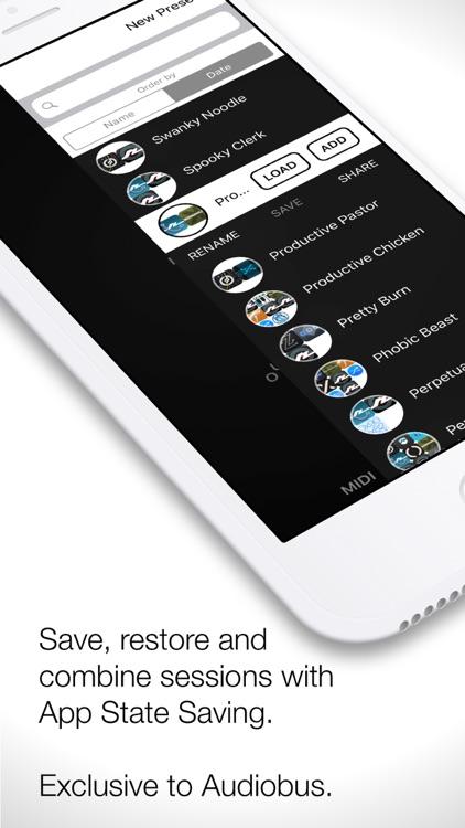 Audiobus: Mixer for music apps screenshot-3