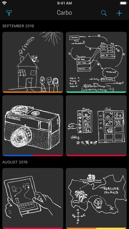 Carbo › Notes & Sketches screenshot-5