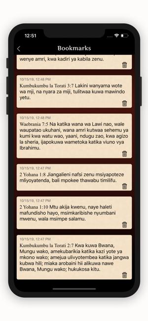 Biblia Takatifu Ya Kiswahili On The App Store