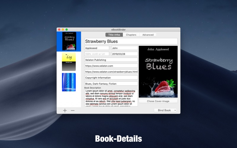 eBookBinder Screenshots