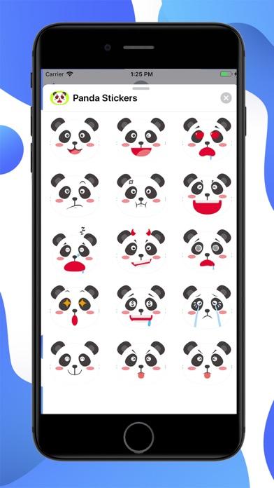 Panda Cartoon Stickers screenshot 1