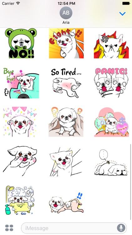 Cute Pekingese Dog Peke Emoji screenshot-3