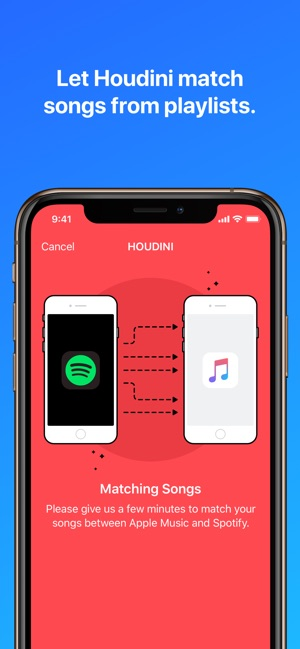 ‎Houdini Playlist Transfer