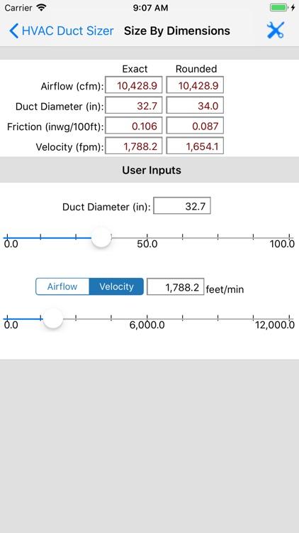 ASHRAE HVAC Duct Sizer screenshot-7