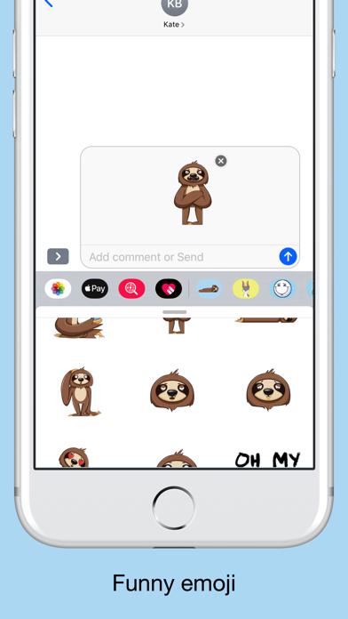 Sloth emojis & funny stickers screenshot 3