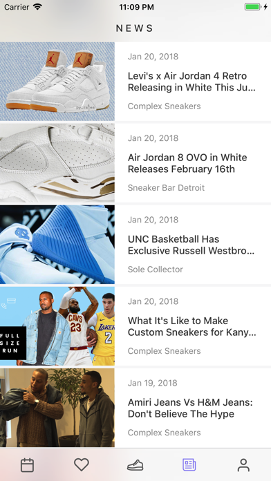 Screenshot for Sneaker Crush - Release Dates in Canada App Store