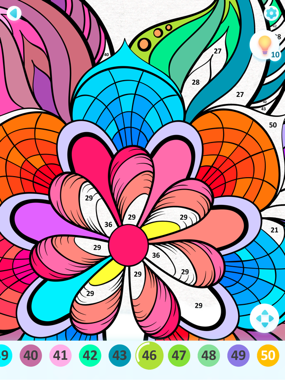 iPad Image of Art Pages: Color By Number