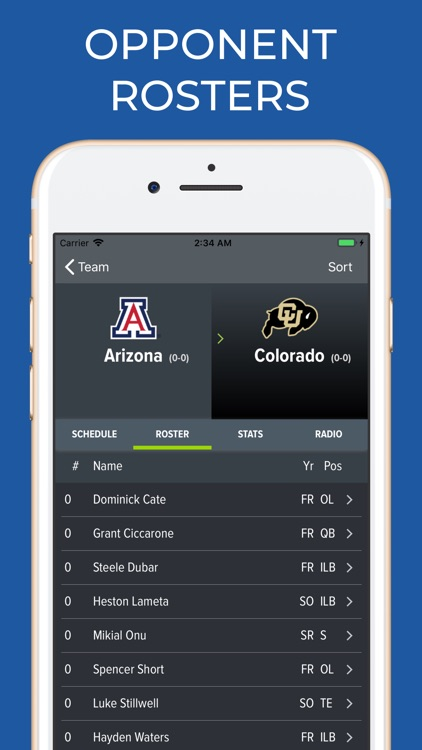 Arizona Football Schedules screenshot-6
