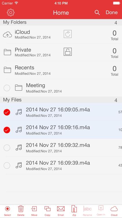 Recorder Pro: Audio Manager screenshot-3