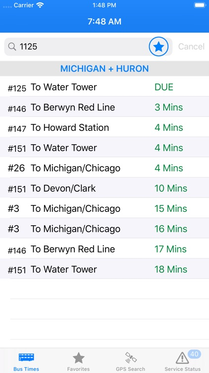 Bus Times - Chicago