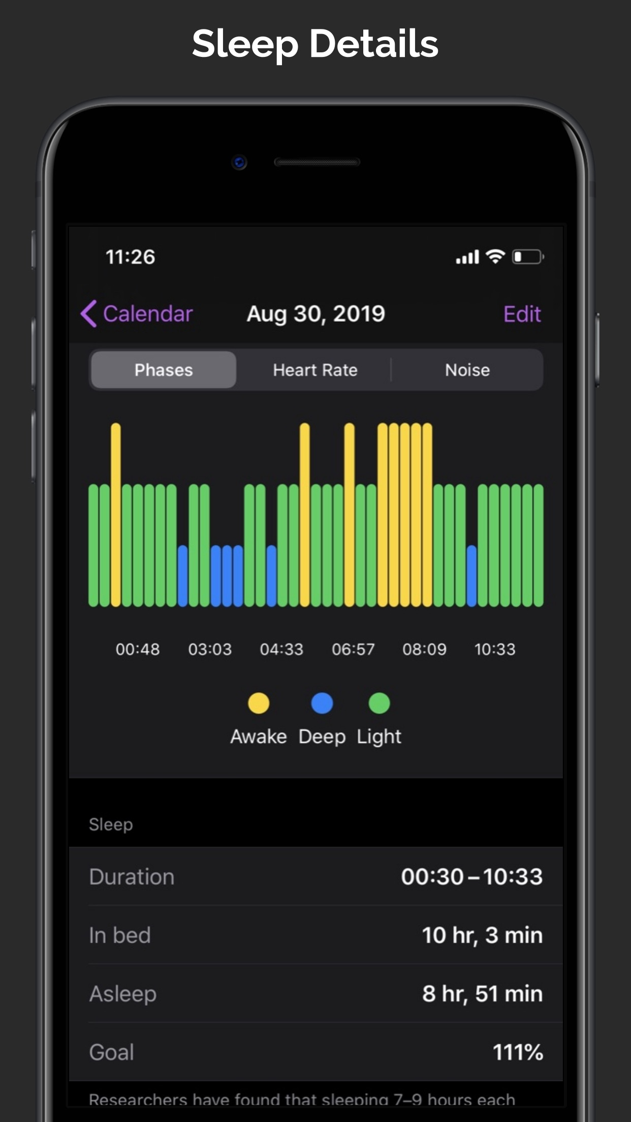 Screenshot do app NapBot - Auto Sleep Tracker