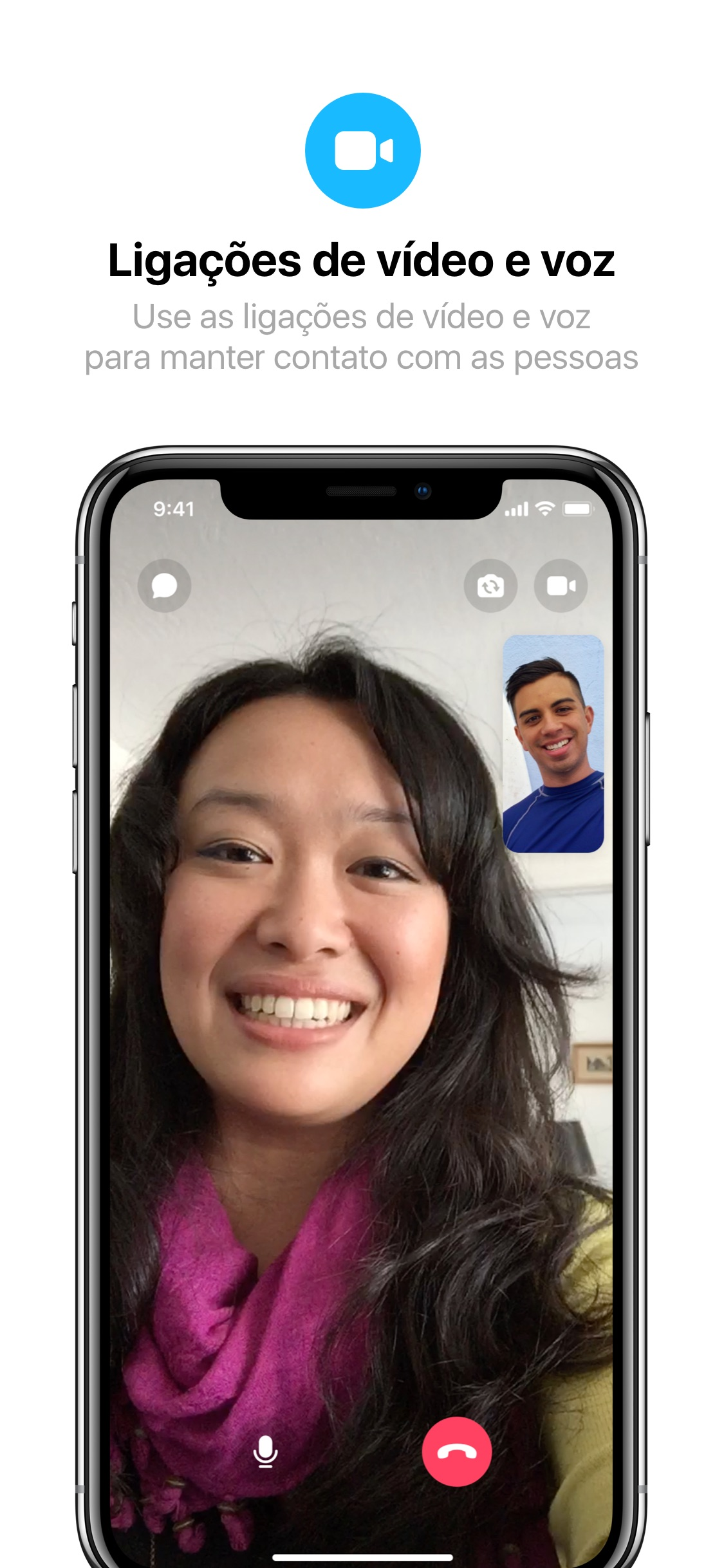 Screenshot do app Messenger Lite