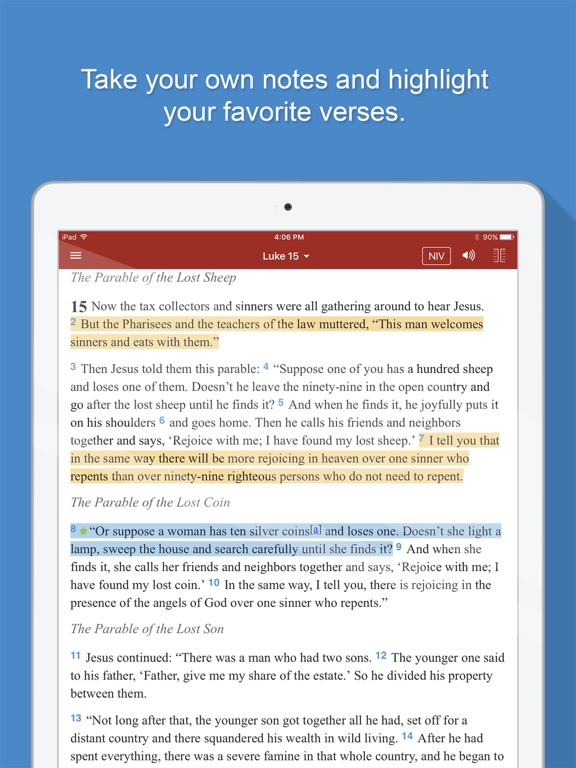 Screenshots for Bible Gateway for iOS