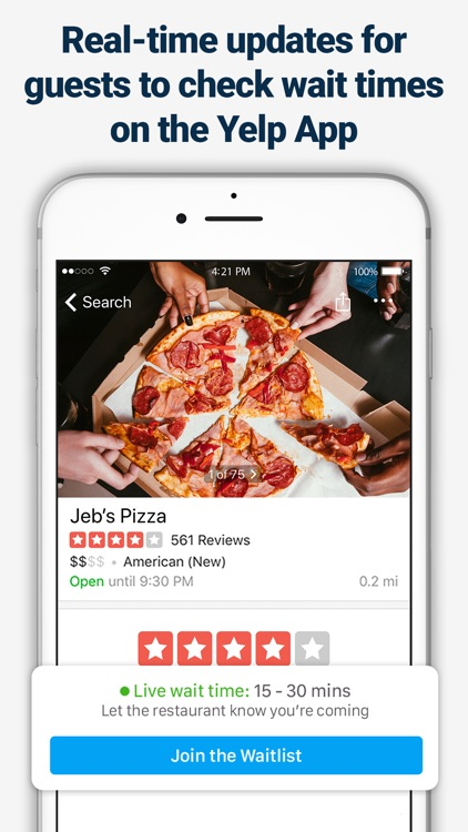 Yelp Waitlist for Restaurants screenshot-4