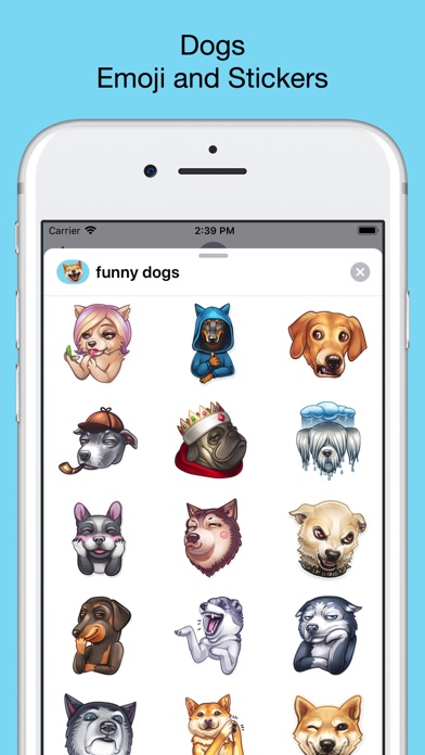 Funny dogs - emoji stickers screenshot 1