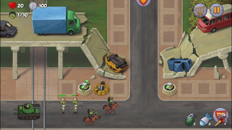 Zombie Town Defense screenshot-0