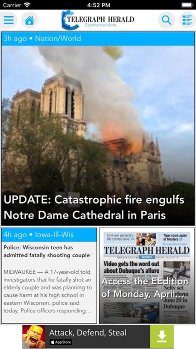 Telegraph Herald screenshot one