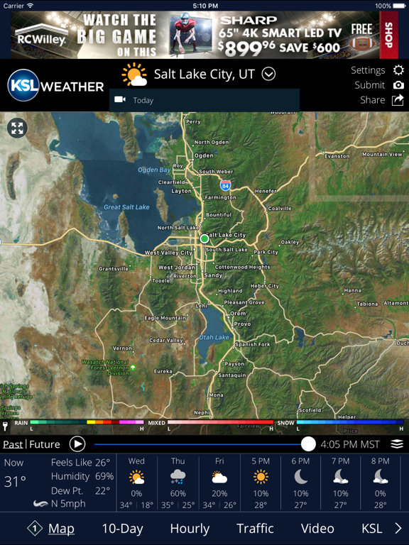 KSL Weather iOS Application Version 4 8 901 - iOSAppsGames