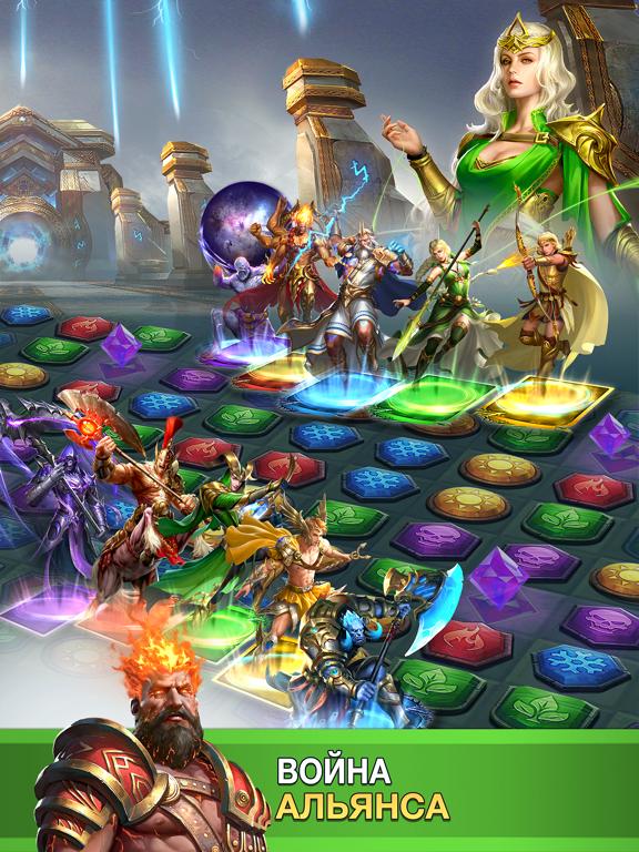 Скачать MythWars & Puzzles:RPG Match 3