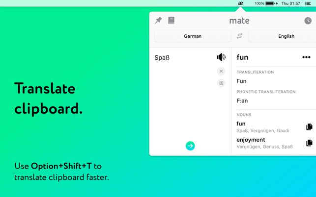 ‎Mate: Universal Tab Translator Screenshot