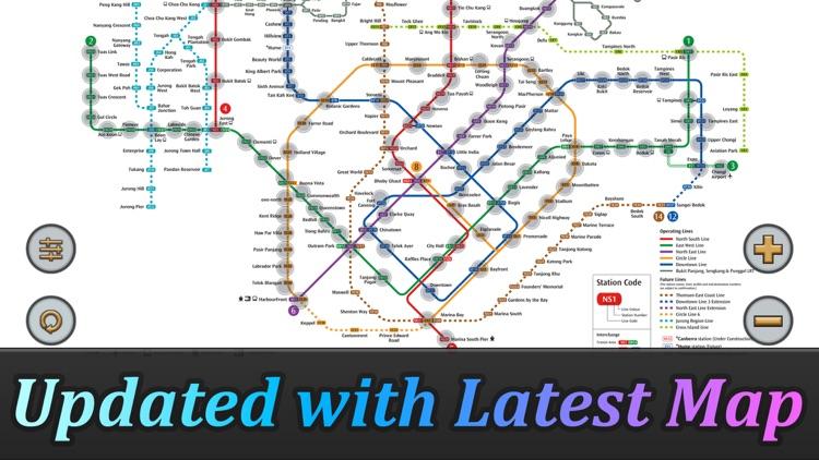 Singapore MRT Map Route(Pro) screenshot-3