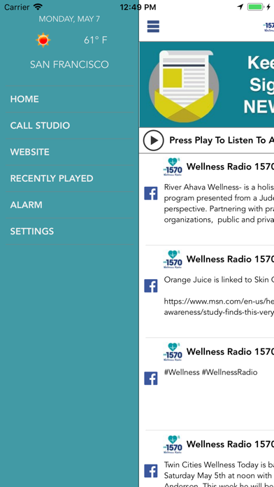 Wellness Radio 1570 screenshot two