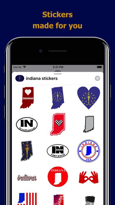 Indiana emojis - USA stickers screenshot 1