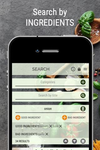 Vegan Recipe Browser - náhled